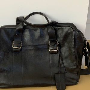 Vintage Hugo Boss Leather Weekender